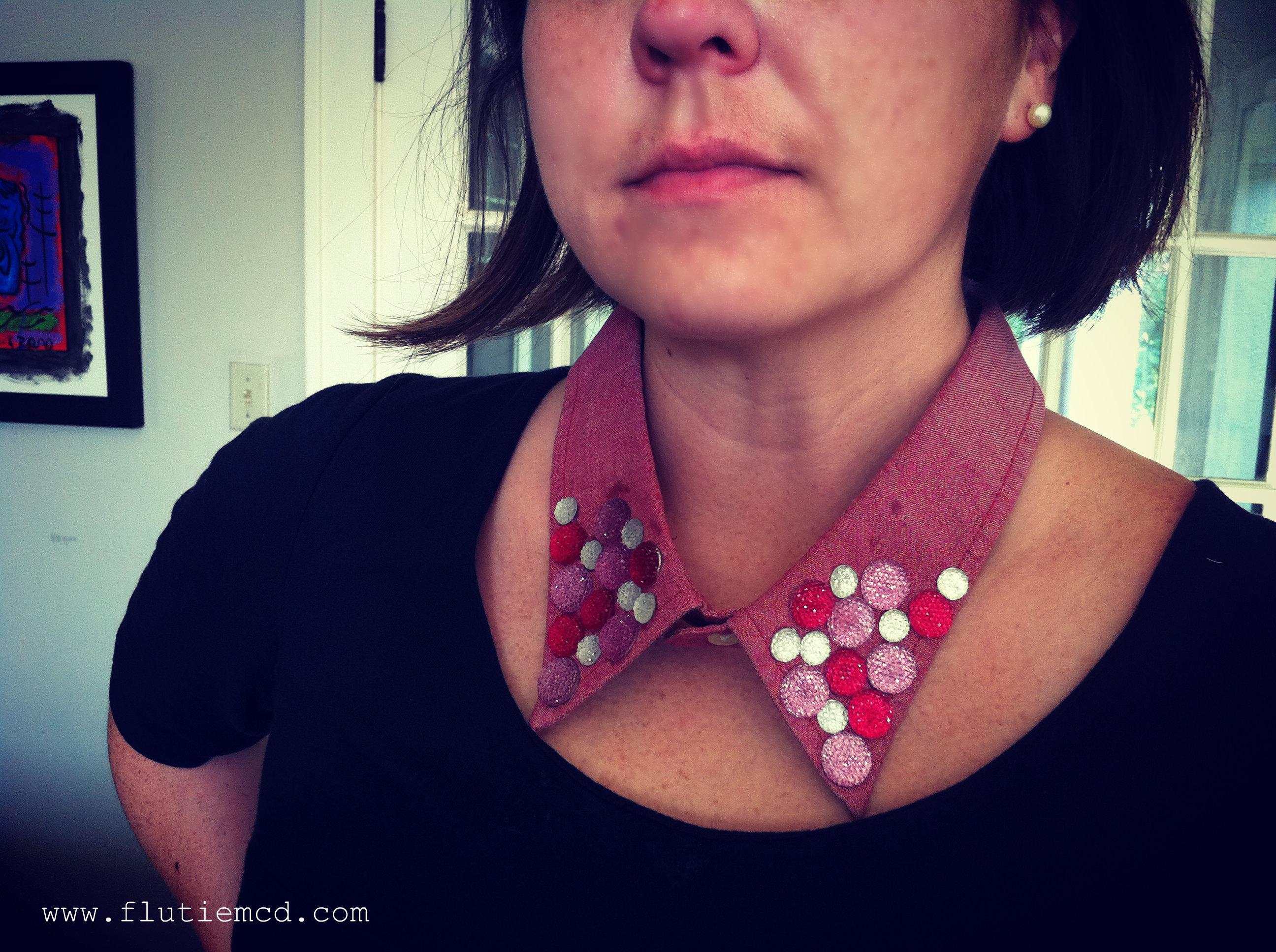 fuschia collar necklace