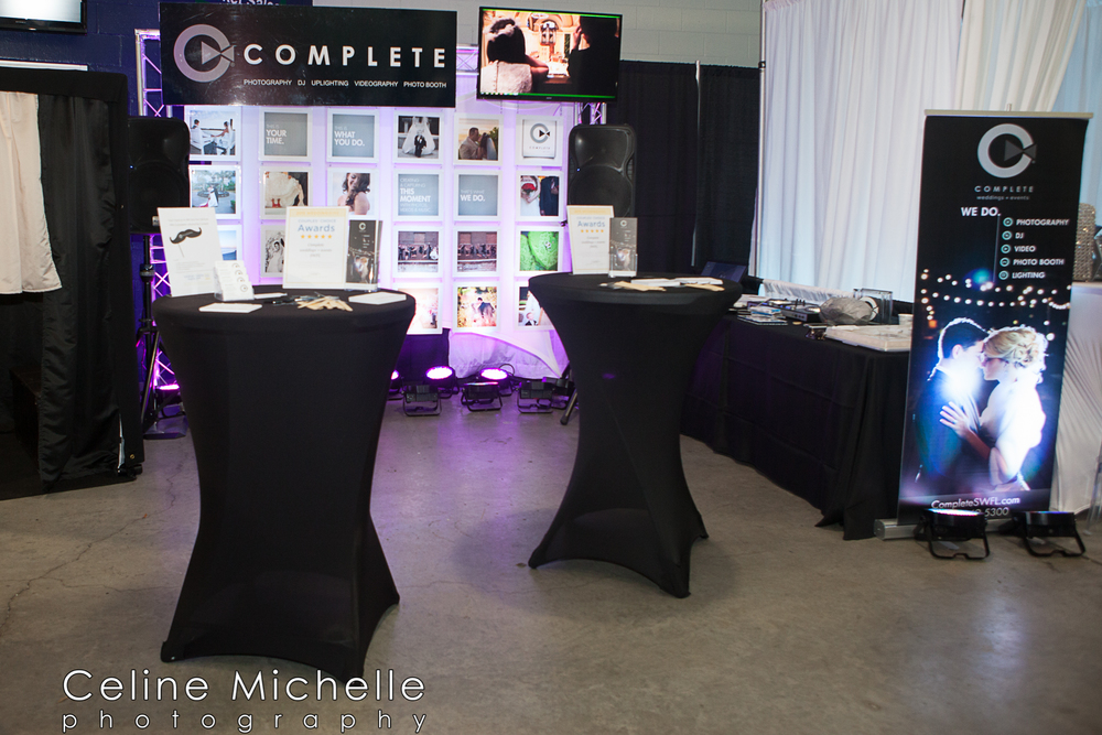 Complete Weddings + Events booth at the February Bridal Blast