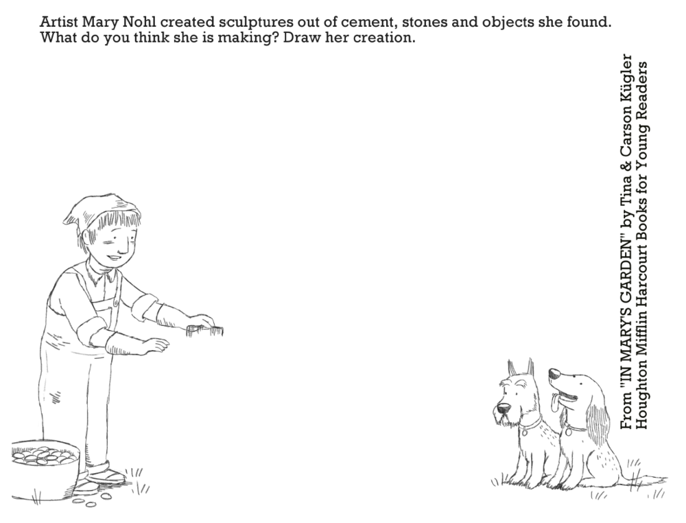 Printable coloring page from   In Mary's Garden