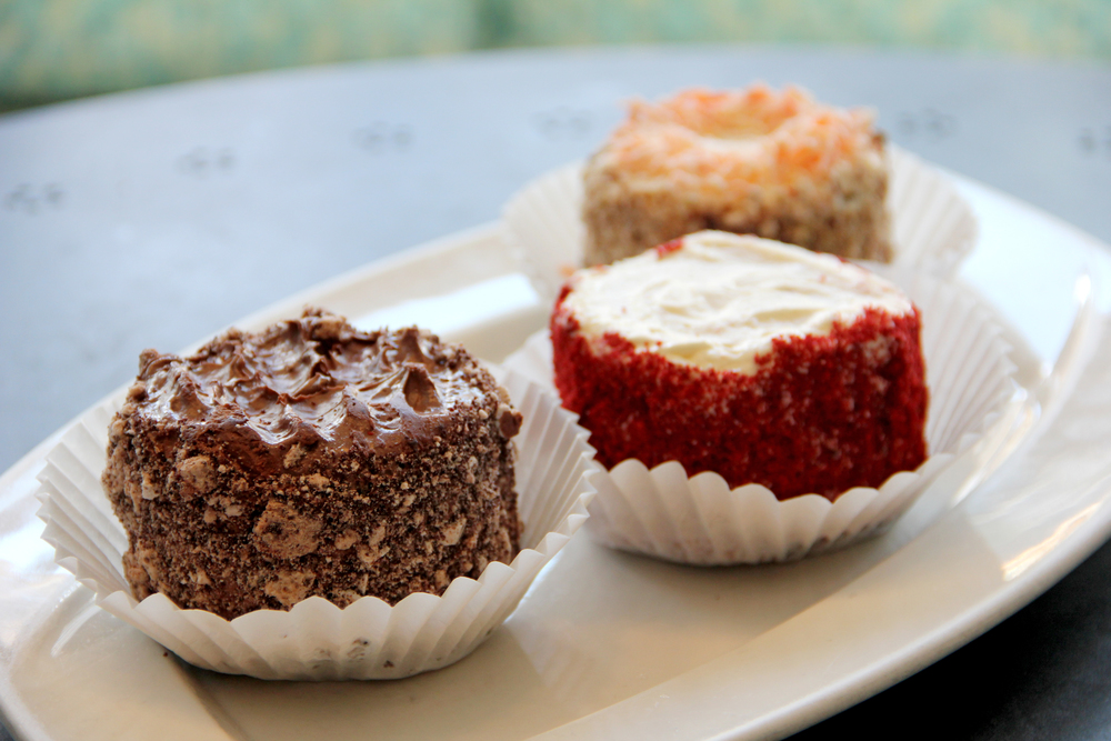 Double Chocolate, Red Velvet and Carrot Mini Cakes