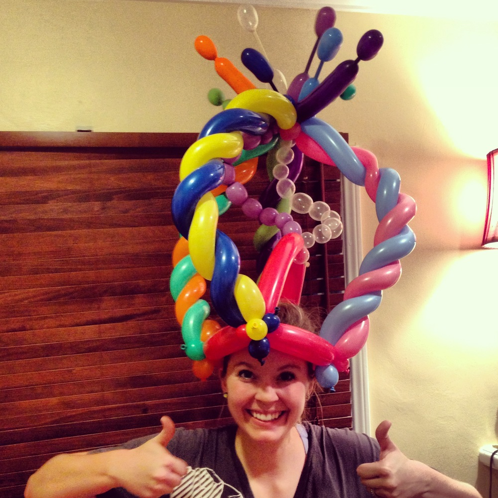 Balloon Twisting Crazy Hat