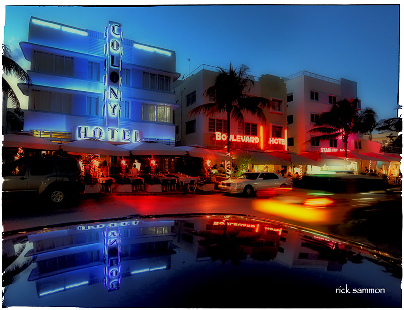 Sizzling South Beach at night.