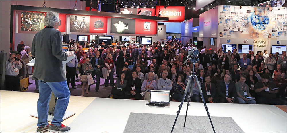 That's me speaking for Canon at the Consumer Electronics Show in Las Vegas.