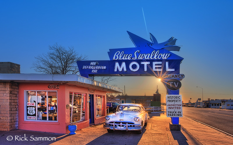 Sunrise on Route 66.