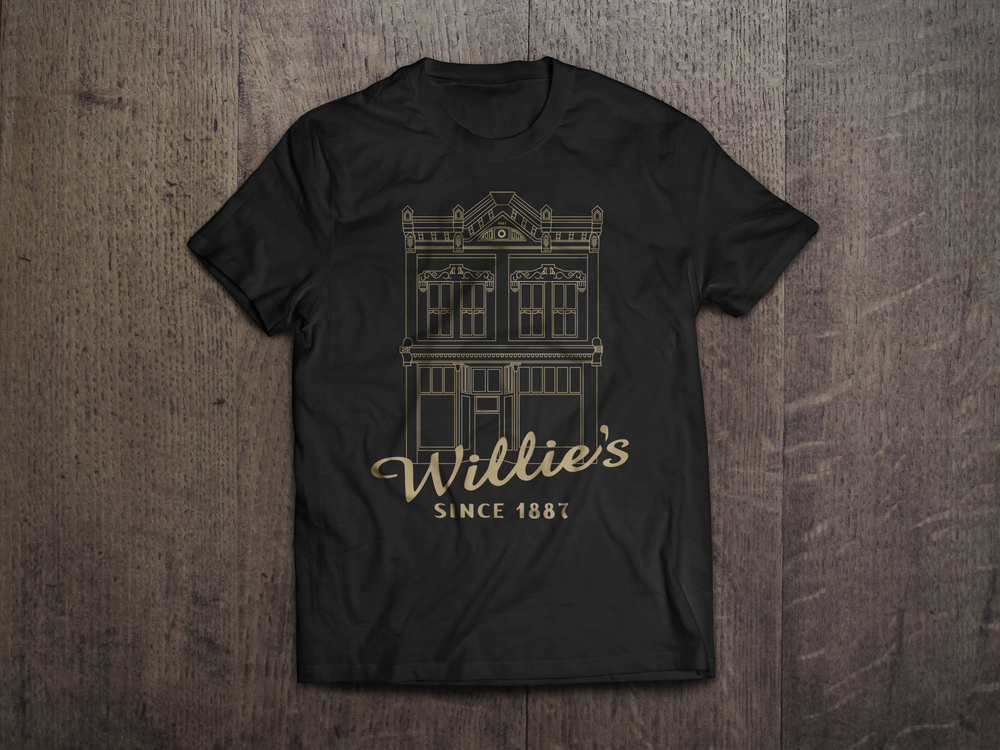 A little side project for Willie's Cafe and Bakery. A t-shirt design.