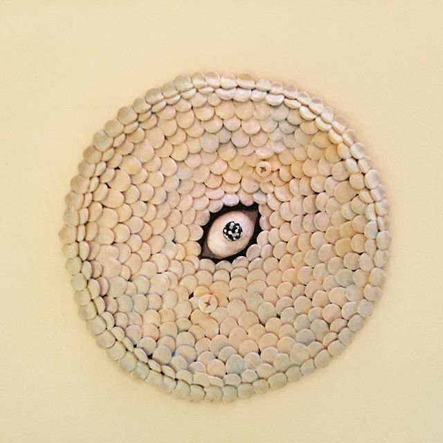 Got a weird hole in the ceiling? Put an eyeball in it. #supersculpey #ceiling