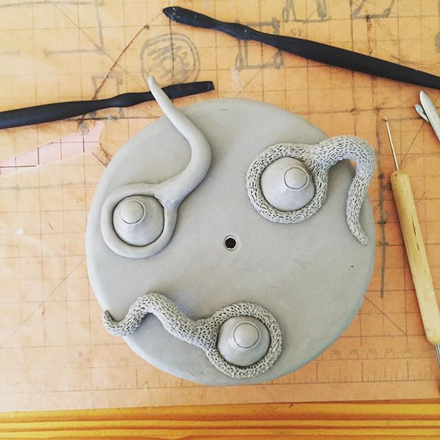 Making more ceiling eyeballs. #eyeball #ceiling #supersculpey