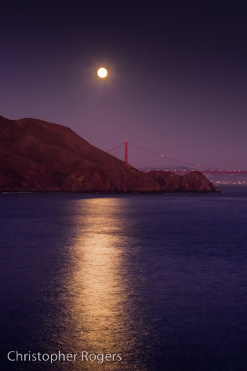 Moonlight over Marin