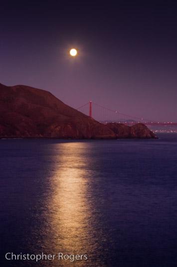 Moonlight over Marin