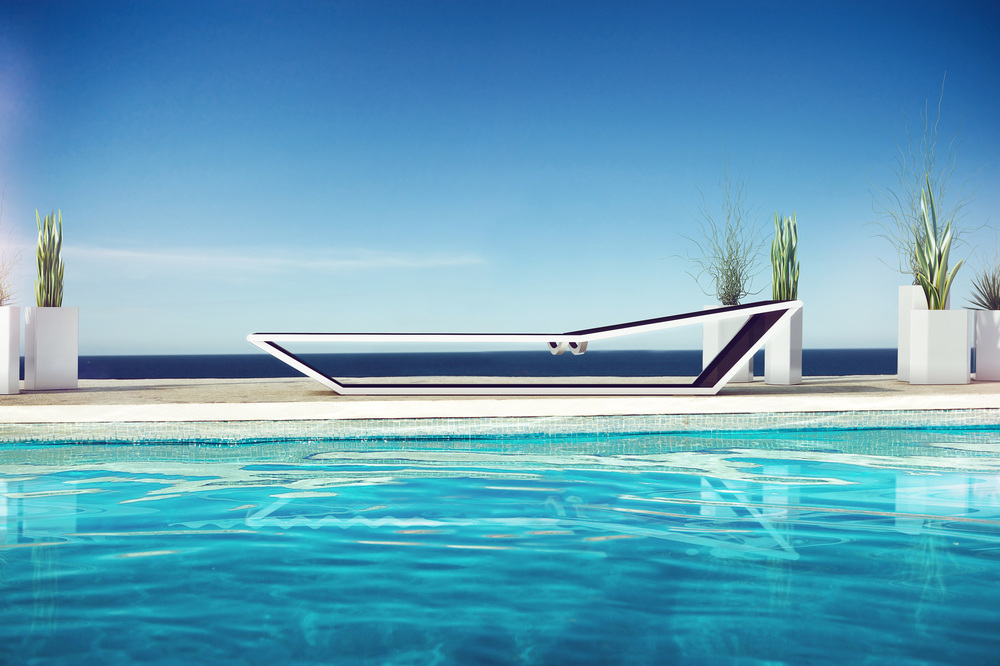EDGES sunbed by Stephane Chapelet for ARIA23