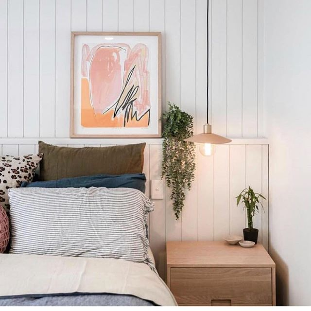 Hide pendant in natural leather hanging out in this dreamy bedroom space by @alyceeeee + @willowshometraders ⚡️👊🏼 .  #light #lighting #lightingdesign #Interior #interiordesign #contemporary #geometric #minimal #bedroom #leather  #brass #⚡️ #💥