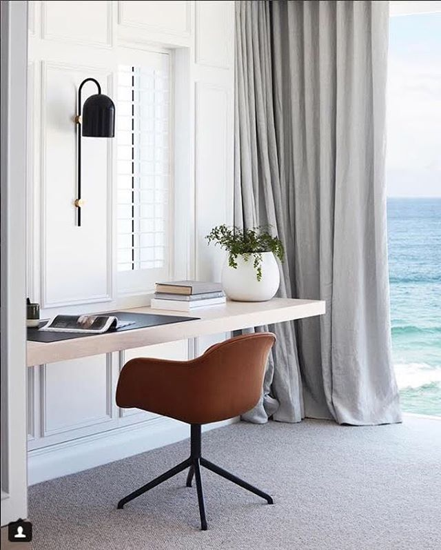 A room with a view 👌🏽 simply stunning Bronte project by @laneandgrove 🙌🏿 featuring our Duomo wall light in satin black with brass hardware.  #light #design #wall #walllight #lighting #lightingdesign #Interior #interiordesign #contemporary #geometric #minimal #black #brass #sea #view #roomwithaview #nz #aus #nzdesign #⚡️ #💥