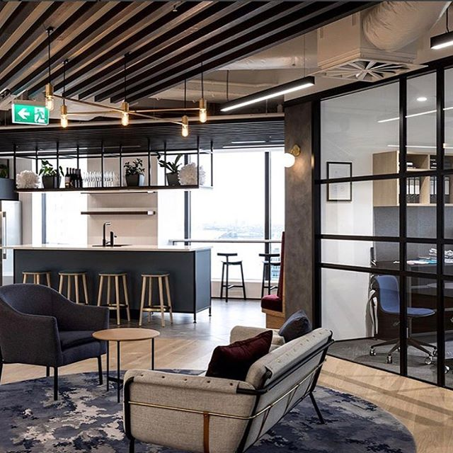 Seriously wowed by the MMC office fitout by @spaceworks_nz - what a beautiful space to work! Our Musca pendant looks stunning in the space. 📷 @black_interiors