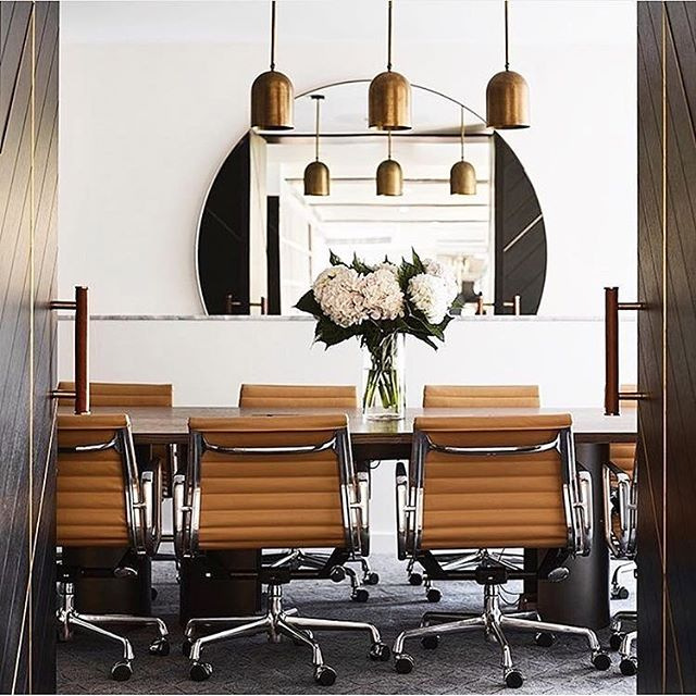 Four Seasons executive lounge completed earlier this year ❤️ @mimdesignstudio . Complementing this beautifully executed space are our fixed rod Duomo pendants in Whiskey brass.