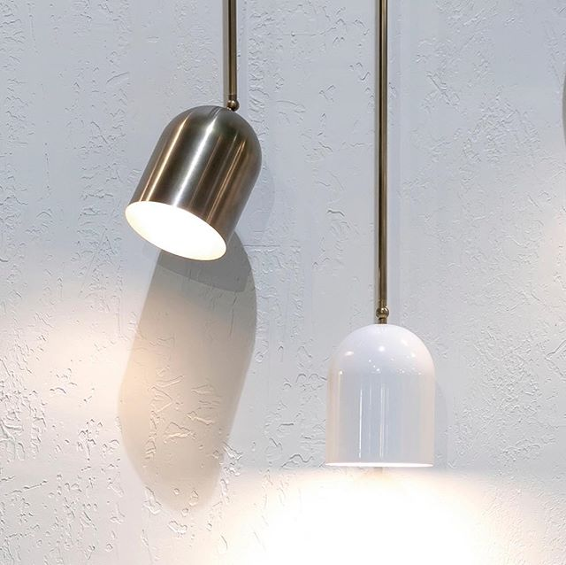 Duomo fixed rod pendants hanging out at Denfair Sydney against our *ahem* award winning textured stand. We can now customise these to lengths over 1M. #anaestheticdesign