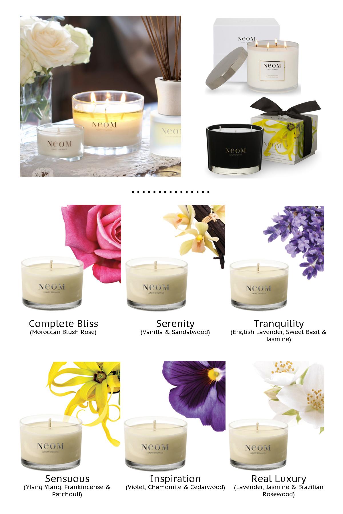 (Images: NEOM Luxury Organics / Layout:  Nina L )