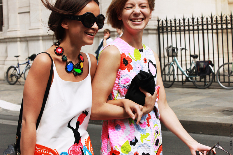 Miroslava Duma & Vika Gazinskaya - (source:  www.backseatstylers.com ; credit: StreetFSN by Nam) via  Missy Confidential