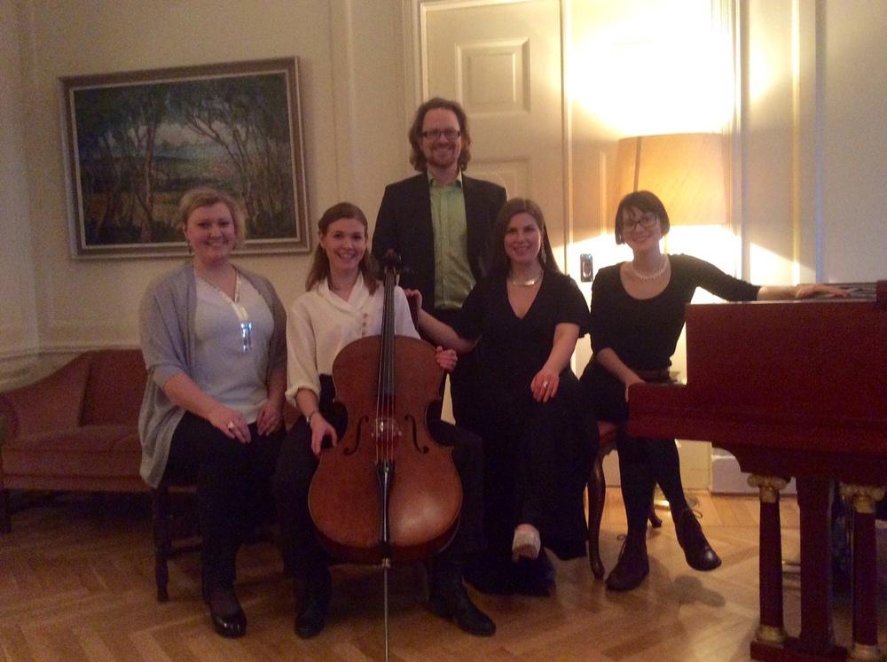 Anna K. Larson, Sanna Andersson, me, Margrét Brynjarsdóttir and Vaiva Mazulyte