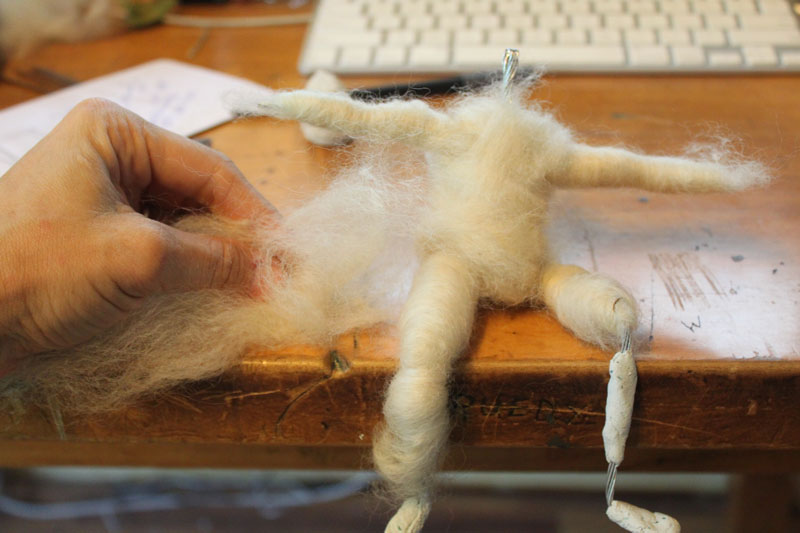 wrapping armature in wool