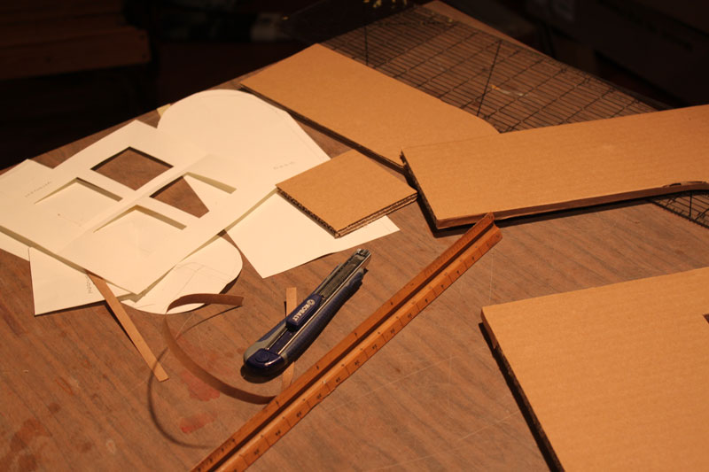 building cardboard stop motion set