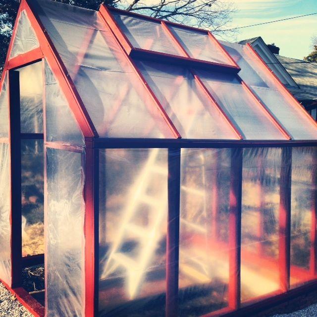 Katie's tiny greenhouse