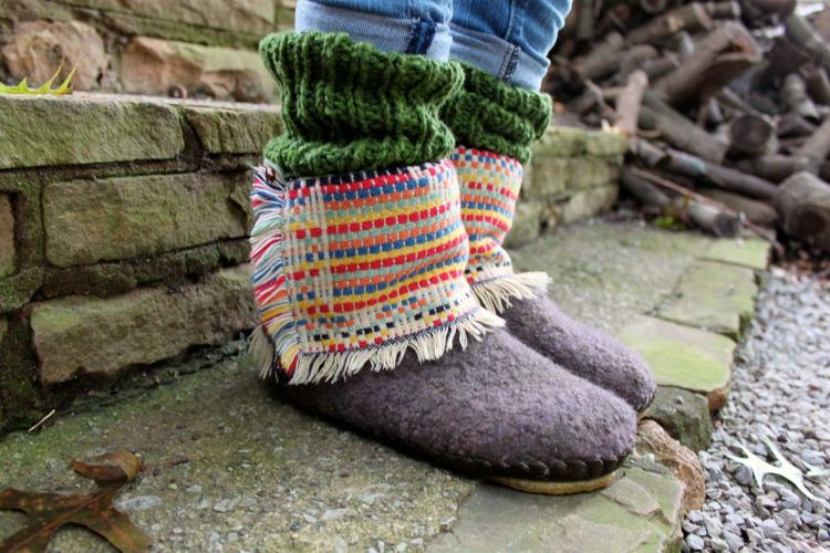 Blanket Ankle Boot in Wool Clasica