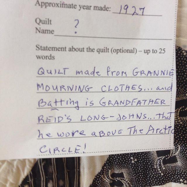 1 of 2 : quilt story. #bereaartscouncil #oldquilt
