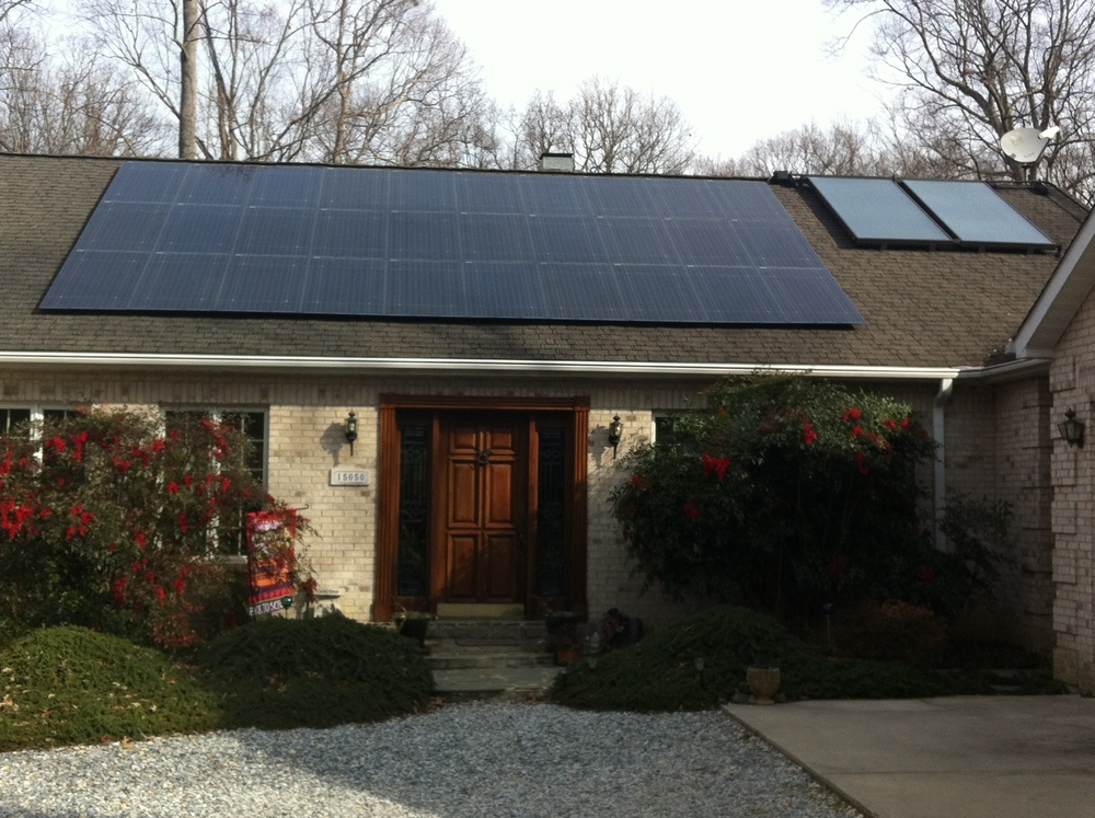 Roof-mount portion of 13 kW residential solar system