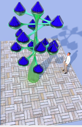 New cone shaped spinning solar cells up to 20x more efficient v3 solar treeg sciox Image collections