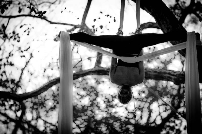 Soledad de la Riva performs the graceful art of Aerial Silk Acrobatics.