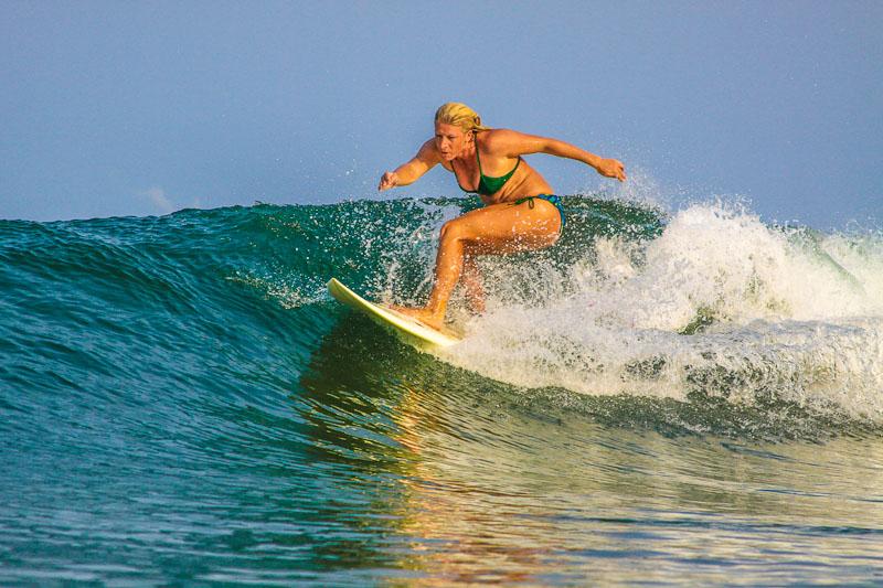 Mi Ola Bikini surf model. Playa Avellanas near Tamarindo, Costa Rica.