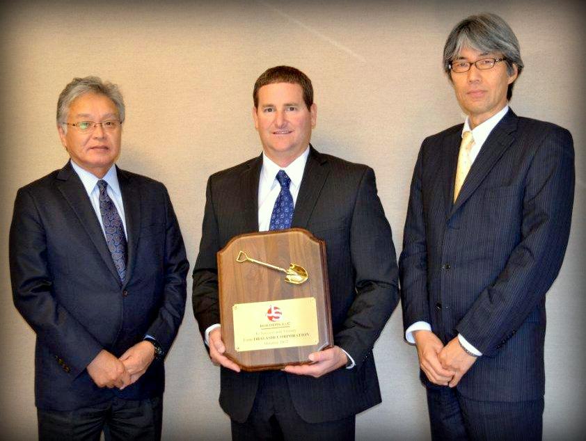 left to right  Yoshiharu Nakamura, Joe Stamates,Toshimi Sato