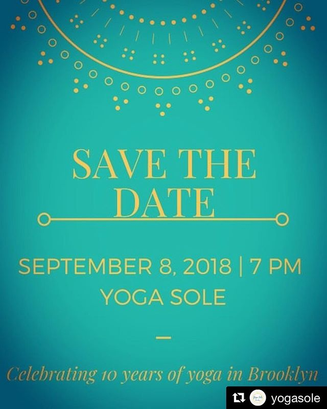 Excited to join in the fun with @yogasole for their 10th anniversary!  Down Dog will be doing a pop-up shop there starting 9/8 Sept 8; 7pm Yoga & Live music ($40). 8:30pm Party time! (All welcome) Party is free with RSVP.
