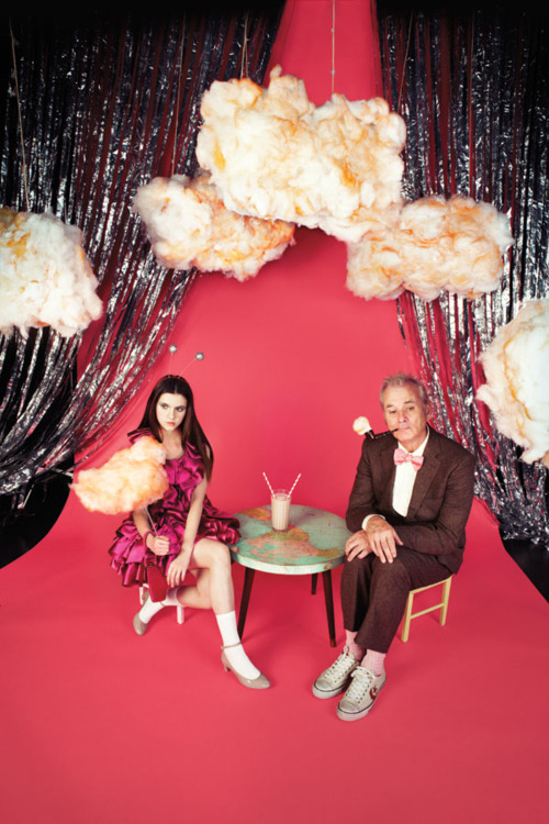 dirtyprettything :     stars of 'Moonrise Kingdom'  Bill Murray & Kara Hayward by Wes Anderson
