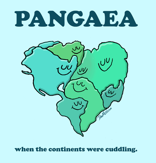 eatsleepdraw :       PANGAEA:   when the continents were cuddling.