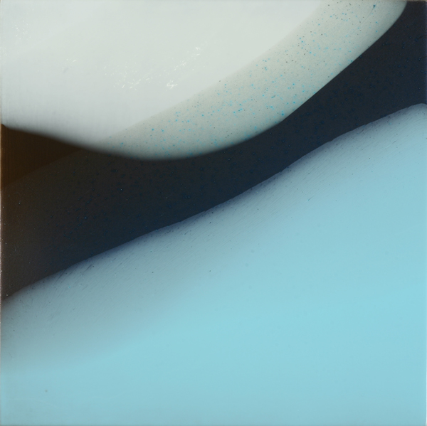 """Anoche"", 2011, 16"" X 16"", poured acrylic on canvas over panel. (unavailable)"
