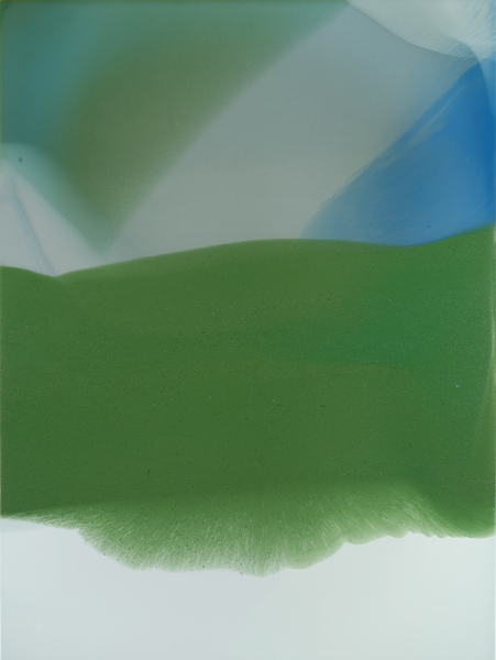 """Costa Verde"", 2011, 39"" X 29"", poured acrylic on canvas over panel."