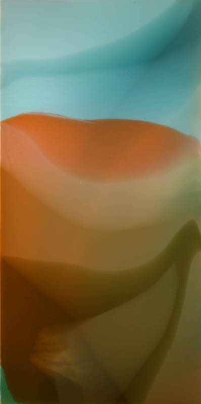 """Candy Mountain"", 2010, 48"" X 24"", poured acrylic on canvas over panel."
