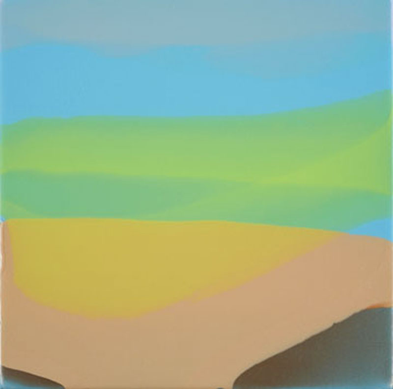 """Mirage"", 2008, Poured acrylic on canvas. (unavailable)"