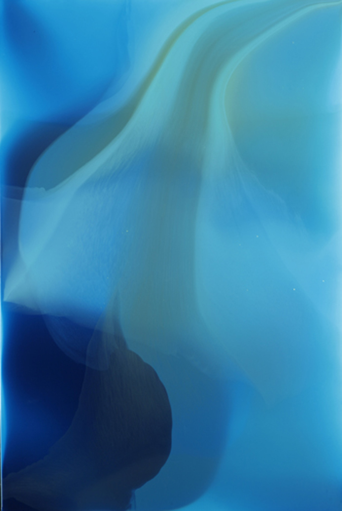 """Pacific Water"", 2009, 72"" X 48"", Poured acrylic on PVC panel. (unavailable)"