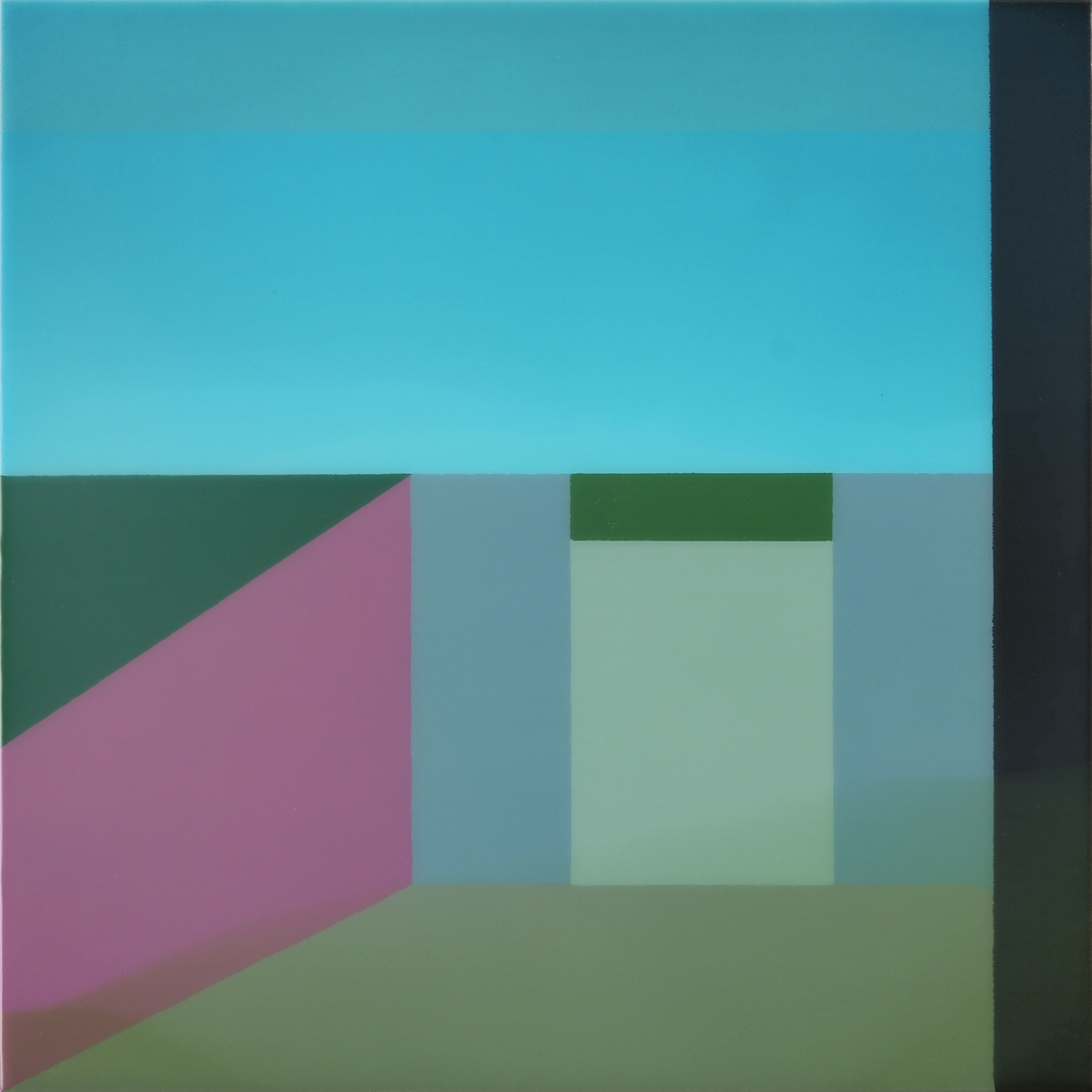 """Level 3"", Acrylic on canvas over panel, 16"" X 16"", 2015."