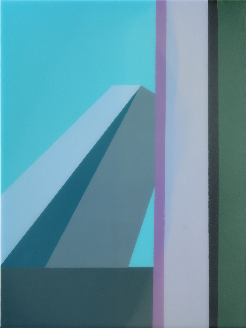 """Level 2"", Acrylic on canvas over panel, 16"" X 12"", 2015."