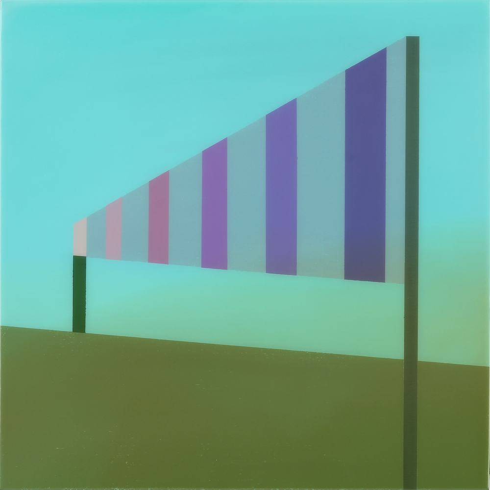 """Signal"", Acrylic on canvas over panel, 24"" X 24"", 2015."