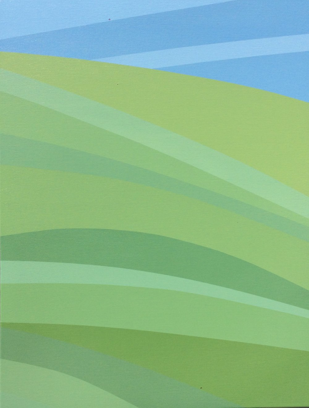 """Grass"", 2016, 40"" X 30"", Acrylic on canvas."