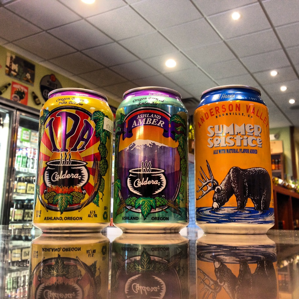 Caldera IPA & Amber, Anderson Valley Summer Solstice Cans