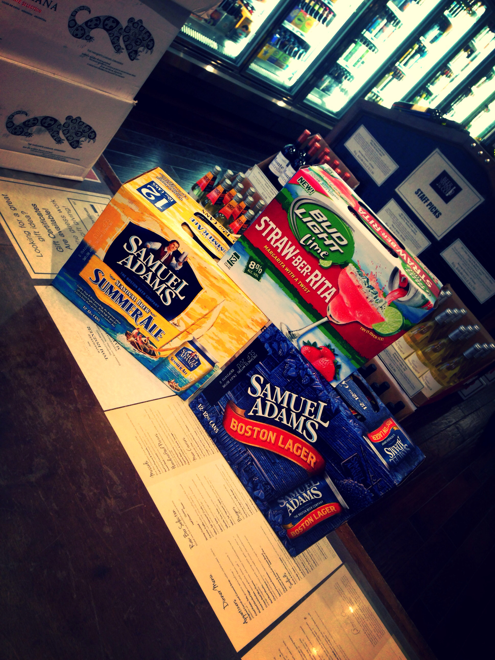 Sam Adams Boston Lager & Summer Ale now in 12 pack cans, Bud Light Strawberita