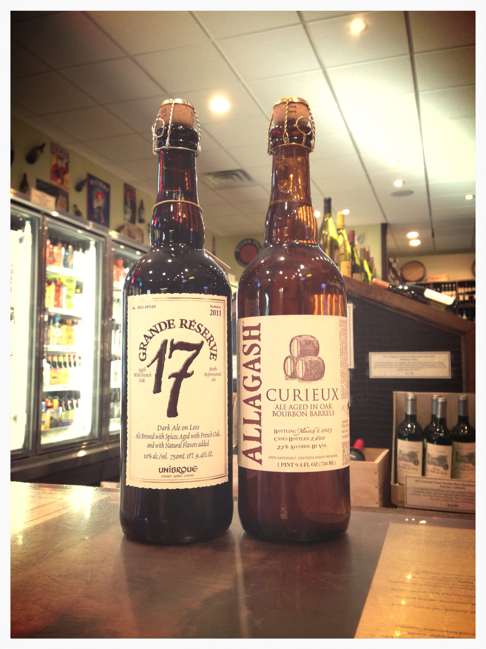 Unibroue 17th Anniversary & Allagash Curieux