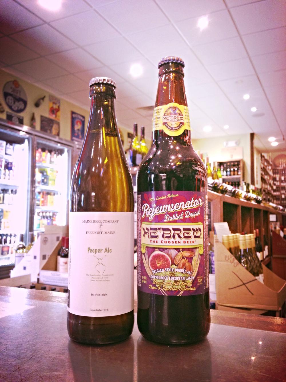Maine Beer Peeper Ale and He'Brew Rejewvenator w/ Figs