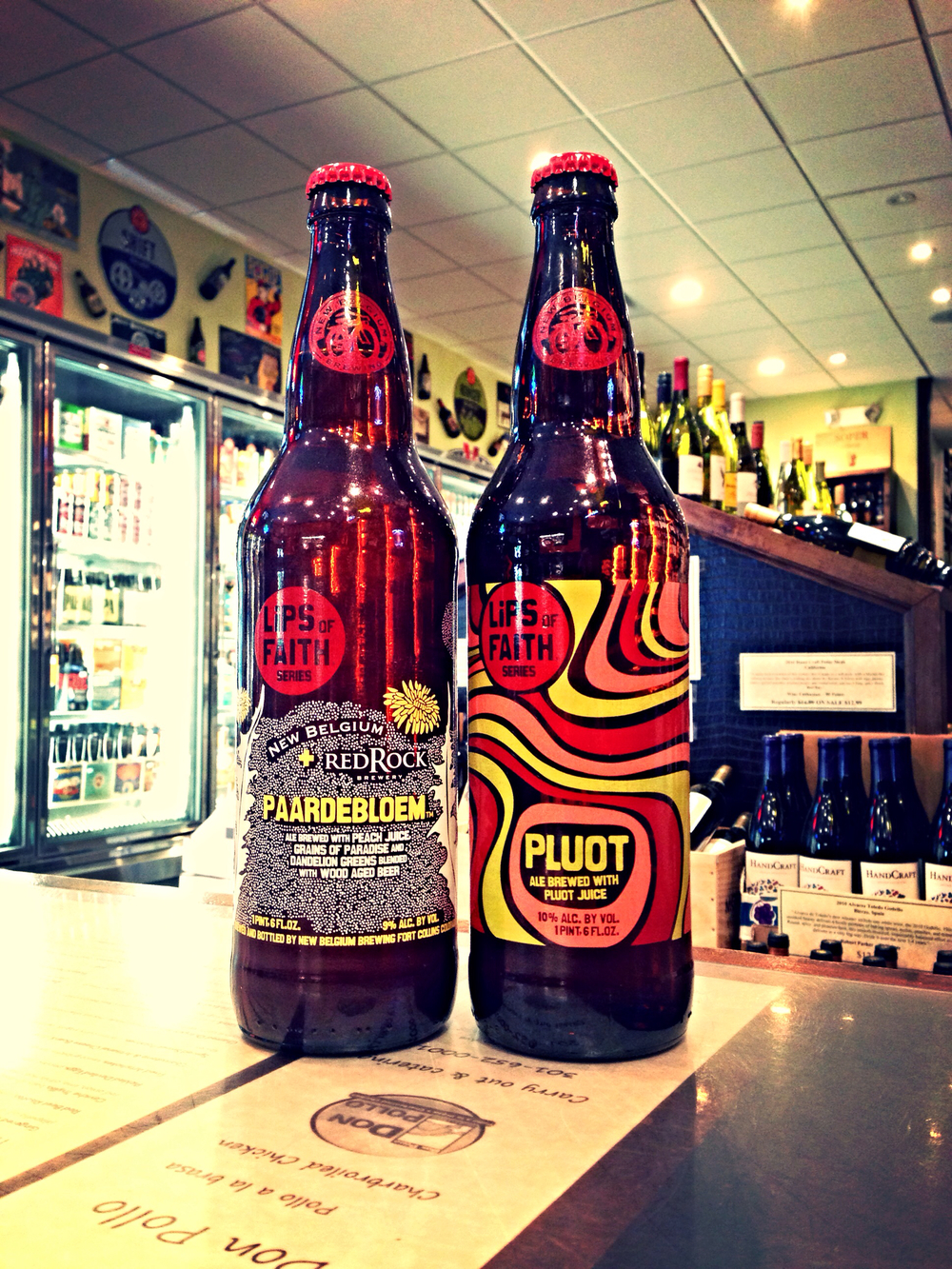 New Belgium Lips of Faith series.. Paardebloem & Pluot