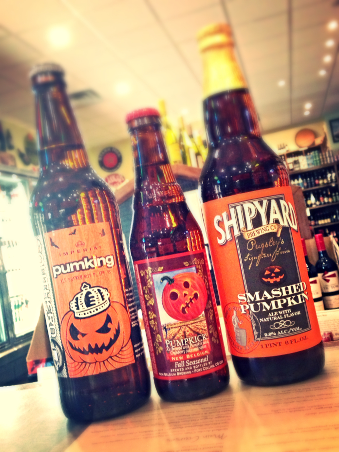 Southern Tier Pumking, New Belgium Pumpkick, and Shipyard Smashed Pumpkin